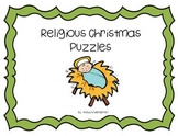 Religious Christmas Puzzles and Roll and Color Page