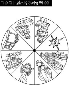 Religious Christmas Wheel Activity for Kindergarten