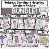 Religious Coordinate Graphing Mystery Picture BUNDLE!