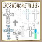 Religious Cross Worksheet Helpers Christian Clip Art for Commercial Use