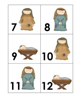 Religious December Calendar cards