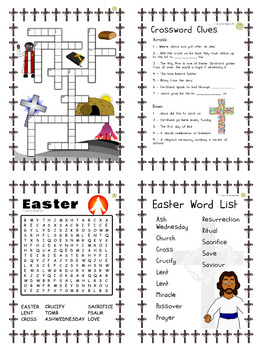 Religious Education: Easter Activities and Puzzles Bundle