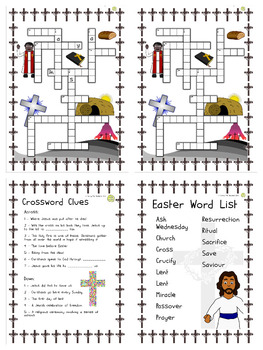 Religious Education: Easter Vocabulary Puzzles