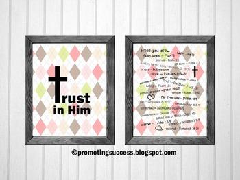 Religion Education, Bible Verse Posters, Christian Classroom Decor