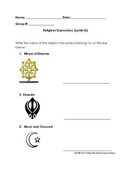 Religious Expression (symbol) match to Religious Tradition (religion)