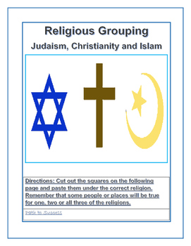 Religious Grouping: Judaism, Christianity and Islam