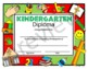 Religious Kindergarten Diploma - All About School - Editable