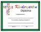 Religious Kindergarten Diploma - Cross Hands Theme - Editable
