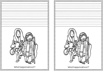 Religious Make Your Own Christmas Nativity Book - Writing Activity