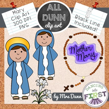 Religious Mary Clip Art