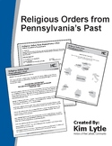 Religious Orders from Pennsylvania's Past