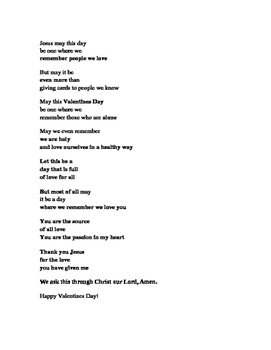 Religious Poem for Valentine's Day