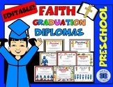 Religious Preschool Diploma Certificates - Class Pack - Editable