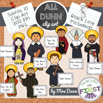 Religious Saints Clip Art Set 10