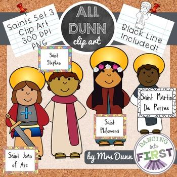 Religious Saints Clip Art Set 3
