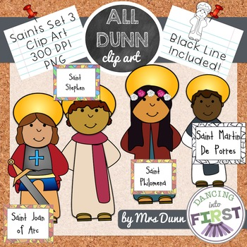 Religious Saints Clip Art Set 3