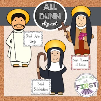 Religious Saints Clip Art Set 4