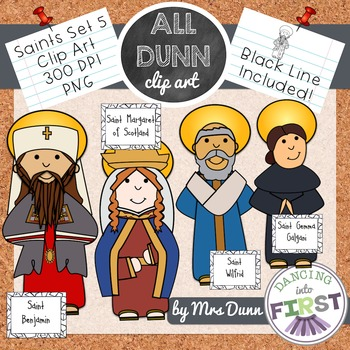 Religious Saints Clip Art Set 5