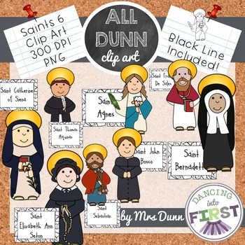 Religious Saints Clip Art Set 6