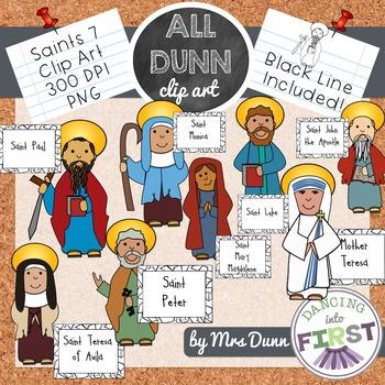 Religious Saints Clip Art Set 7