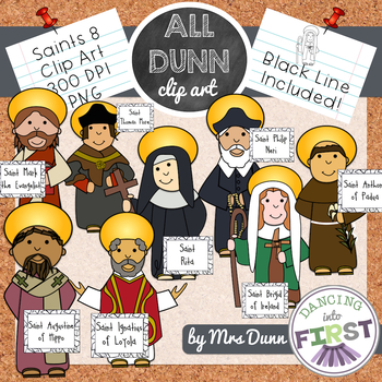 Religious Saints Clip Art Set 8