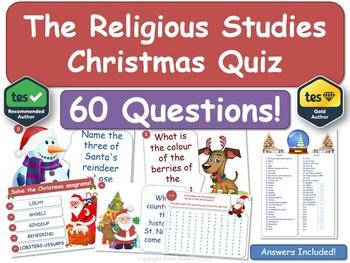 Religious Studies Christmas Quiz (RE, RS, Xmas, Religion)