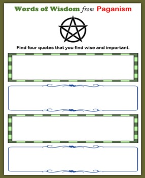 Religious Symbols:  Paganism