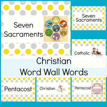 Religious Word Wall Words and Pictures