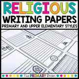Religious Writing Paper with Borders   Distance Learning