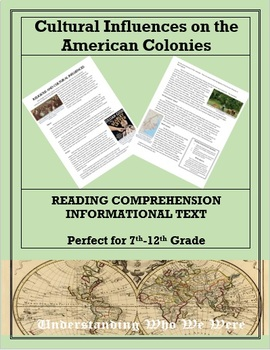 Cultural Influences on the American Colonies