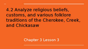 Religious beliefs and customs of Cherokee and Creek