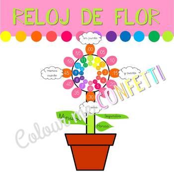 Reloj de flor - Decoración - Colour me Confetti