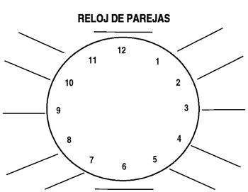 Reloj de parejas/Clock partners