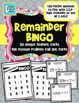 Division BINGO with Remainders