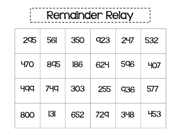Remainder Relay