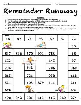 Remainder Runaway - Division Game