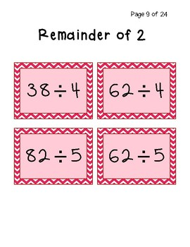 """Remainder """"Set"""" Game: Race to find a set with all the same/different remainders!"""