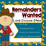 Remainders Wanted: Long Division Game