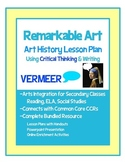Remarkable Art Vermeer, Art History Critical Thinking and Writing Activities