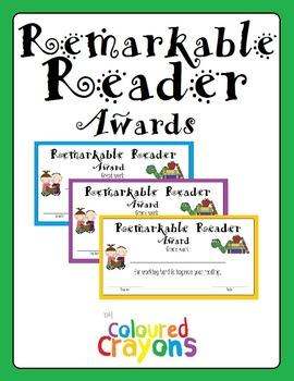 Remarkable Reader Awards