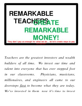 Remarkable Teachers Quote Poster