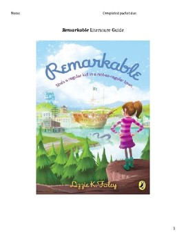 Remarkable by Lizzy K. Foley Literature Discussion Guide