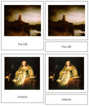 Rembrandt 3-Part Art Cards
