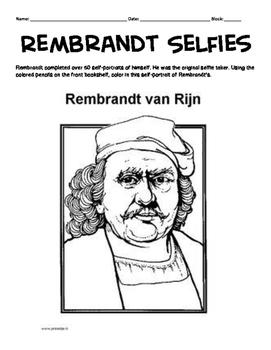 Rembrandt Van Rijn Portrait and Research