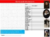 Rembrandt Wordsearch Puzzle Sheet Starter Activity Keywords Art Artists