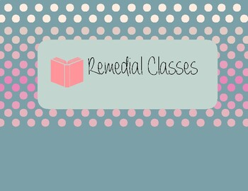 Remedial Classes Poster