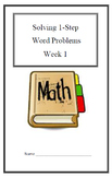 Remediation Weekly Lesson Plan & Practice:Word Problems-1 step(week 1)