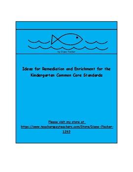Remediation and Enrichment Ideas for Kindergarten Math