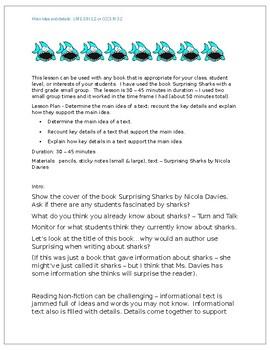 Remediation lesson for Main Idea and details:  LAFS.3.RI.1.2 or CCCS RI 3.2