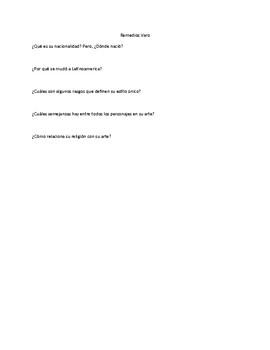 Remedios Varo: Infograph Reading Assessment